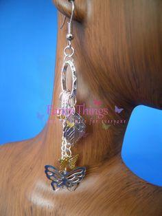 Leuke oorbellen met filigrein vlinders.