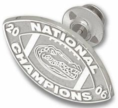 """Florida Gators 2006 Bowl Championship Series 1/2"""" Logo Lapel Pin - Sterling Silver Jewelry by Logo Art. $43.27. Enjoy this official NCAA licensed Florida Gators item. A perfect gift for any Florida Gators fan! Celebrate the winner of the 2006 Bowl Championship Series with this lapel pin."""