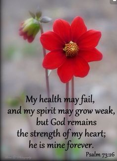 Prayers for family:my health may fail and my spirit mat grow weak but god remains the strength of my heart he is mine forever Prayer Quotes, Bible Verses Quotes, Bible Scriptures, Spiritual Quotes, Thankful Scripture, Bible Psalms, Healing Scriptures, Images Bible, Favorite Bible Verses