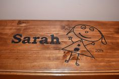 Personalised storage chest. by LKWoodenthings on Etsy