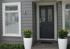 69 Trendy Ideas House Colors Grey Exterior Dream Homes Exterior Color Schemes, Exterior Paint Colors For House, House Color Schemes, Paint Colors For Home, Exterior Design, Modern Exterior, Dulux Paint Colours Grey Exterior, Grey Exterior Houses, Siding Colors