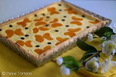 Mandarinen-Quark-Tarte mit Blätterteig Quiche, Baking Tips, Cake Recipes, Buffet, Sweet Tooth, Cheesecake, Food And Drink, Sweets, Healthy Recipes