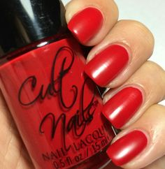 Cult Nails Passionate Dreams Collection:    ★ KISS ★ Vibrant red polish that dries to a wax like finish