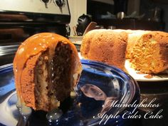 Apple cider cake w/ cider sauce. Trying this one for Thanksgiving dessert.