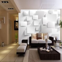 beibehang Embossed Cubic Abstract Wallpapers Large Murals for Living Room Custom White Brick Wall Background Photo Wallpapers White Brick Background, White Brick Walls, Bedroom Wallpaper Murals, Brick Wallpaper, Wall Wallpaper, Photo Wallpaper, Wallpaper Ideas, Planer Cover, Custom Wall Murals