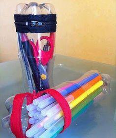 Vivere Verde: Fare un astuccio con bottiglie di plastica