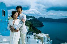 Wedding Photographer in Santorini / Oia for Chinese Couple - Aeginaphotographer Santorini Wedding, Greece Wedding, Wedding Season, Wedding Day, Oia Greece, Pre Wedding Photoshoot, Great View, Portrait Photographers