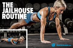 """The Jailhouse Strong Routine. Hotel, motel, Holiday Inn—if they take your weights away, do like they do in the """"pen"""" and try this set of intense, prison-inspired bodyweight #workouts! Bodybuilding.com"""