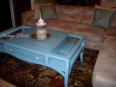 Voyager Blue Coffee Table  From Vintage Paints - Love this but not in blue