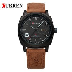 2016 Curren luxury Watch Men Brand Quartz-watch Casual Fashion Leather Strap Wristwatches Sport watches Relogio Masculino 8139