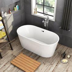 1500x750mm Ava Slimline Freestanding Bath - Small