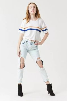 Product Name:Destroyed Boyfriend Jeans, Category:CLEARANCE_ZERO, Price:32.9