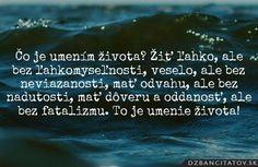 Čo je umením života? Žiť ľahko, ale bez ľahkomyseľnosti, veselo, ale bez neviazanosti, mať odvahu, ale bez nadutosti, mať dôveru a oddanosť, ale bez fatalizmu. To je umenie života! -Theodor Fontane