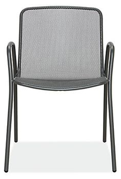 The Aruba outdoor dining chair by EMU is made for enduring quality and comfort. This commercially rated dining chair has a durable powder-coated finish and a steel mesh design that allows water to drain. Comfortable for nearly anyone, Aruba's wide seat and back and contoured shape invite you to linger outside. This modern chair is light enough to easily move and stack, but substantial enough to stay put in windy conditions.