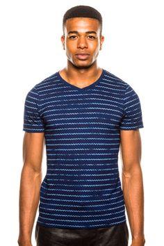 G-Star Rive Indigo V-Neck T-Shirt