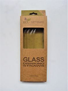 Glass straws - a reusable alternative to disposable plastic straws