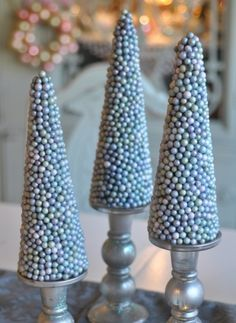 Blue and Silver Christmas Trees