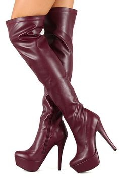 ec53fc2e554 These over the knee high heel boots feature a inner zippers