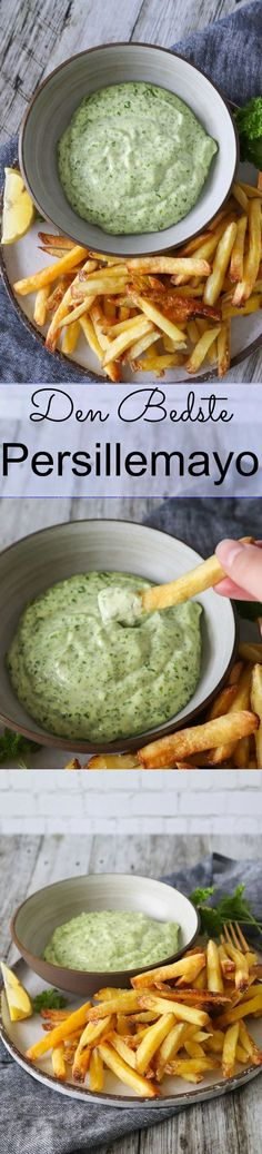 Parsley Mayonnaise In 1 Minute - Homemade Mayo With Parsley Mayonnaise, Baked Potato Oven, Oven Baked, Baked Potatoes, Pesto Dip, Sandwiches, Food Tags, Fried Pork, Dressing
