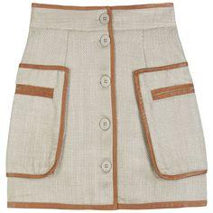 TAUSTE MINI SKIRT (19.250 RUB) ❤ liked on Polyvore featuring skirts, mini skirts, bottoms, saias, women, leather mini skirt, by malene birger, button front mini skirt, mini skirt and leather miniskirt