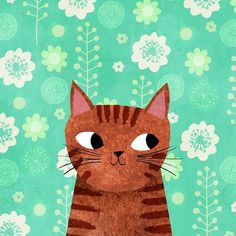 ― Angie Rozelaar( 「This is Tabitha - as suggested by - for Day 22 of the I Love Cats, Crazy Cats, Cute Cats, Art And Illustration, Animal Illustrations, Art Hipster, Here Kitty Kitty, Cat Drawing, Art Design