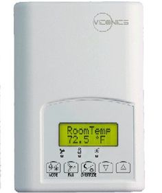 Viconics VT7305F5000B : Fancoil Thermostat Controller by Viconics. $339.25. Fancoil Thermostat Controller, No Humidity, C/F deg for Hotels/Lodging Applications, 2 Analog 0-10VDC and 1 Digital Control Outputs, PIR Ready (Cover not Included), BACnet MS/TP Communication, 2-Year Warranty