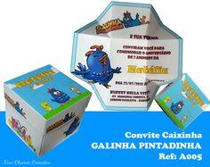 Lindo!!! Lindo!!! Lindo!!! Convite Caixinha da GALINHA PINTADINHA  ***Pedido mínimo 20 caixinhas  Fazemos caixinhas com todos os temas infantis.  Solicite orçamento pelo nosso e-mail: newcharmconvites@gmail.com  Visite nosso Blog: www.newcharmconvites.blogspot.com R$3,60