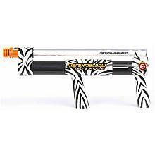 Zebra Marshmallow Shooter by Marshmallow Fun Co. $16.99. From the Manufacturer                Zebra Marshmallow Shooter                                    Product Description                Our Zebra Marshmallow Shooter, is an animalistic marshmallow gun that lets you get out a little harmless primal aggression! The Zebra-print marshmallow shooter gun shows off your wild side with its fun pump action that fires 25 mini-marshmallows (not included) 30 feet away in rapid succes...