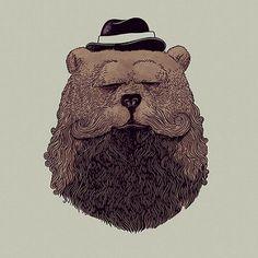 Grizzly Beard #alexmdc #oddworx #illustration | alex solis | Flickr