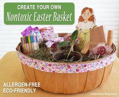 Non Toxic Easter Bakset #allthignseaster