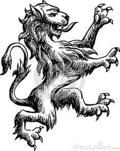 Heraldic lion by Asmakar, via Dreamstime