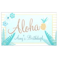 Hawaiian Luau Party Banner