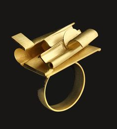Sculptor Anthony Caro showing a series of mechanical jewellery at the New Art Centre in Wiltshire
