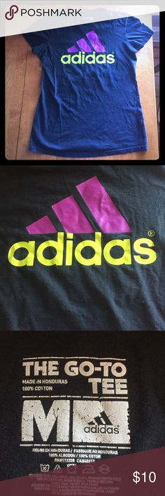 ADIDAS T-SHIRT ADIDAS T-SHIRT. Has been pre loved but still in great condition, no rips or stains. Bundle and Save 10%!    💖Top Rated Seller ⭐️⭐️⭐️⭐️⭐️   Same or Next Day Shipping ! 💋 Adidas Tops Tees - Short Sleeve