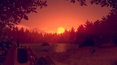 Amazing game art from Campo Santo - Firewatch