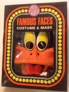 Vintage 1982 Ben Cooper Daffy Duck Halloween Costume & Mask With Box. Small