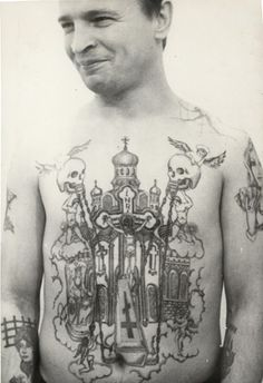 What does prison tattoos mean? We have prison tattoos ideas, designs, symbolism and we explain the meaning behind the tattoo. Old Tattoos, Star Tattoos, Great Tattoos, Vintage Tattoos, Tatoos, Face Tattoos, Amazing Tattoos, Russian Prison Tattoos, Russian Criminal Tattoo
