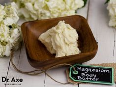 This homemade magnesium lavender body butter recipe is hydrating and nourishing to your skin! The magnesium helps muscles to relax and and lavender brings a calming sensation!