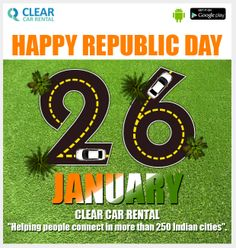 Clear Car Rental Wishes Everyone A 26th JAN 2014 HAPPY REPUBLIC DAY