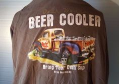 Men`s XL 46-48  George 100% Cotton T- Shirt Beer Cooler #George #BasicTee