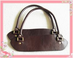 - Material : 100% high quality  Genuine Leather - Length: 26x27cm - Color : dark brown - Contents : 2 handles (set) - Usage : Bag Handle - Detail : Genuine Leather with anti-brass color ornament...