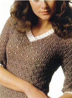 Cute sweater #crochets #crochetdress