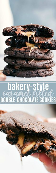 AWARD WINNING caramel filled double-chocolate cookies!! via chelseasmessyapro...   #cookie #holiday #baking #chocolate #dessert #desserts #caramel #easy #quick #familyfriendly #christmas #cookies #bake #baked #butter #eggs