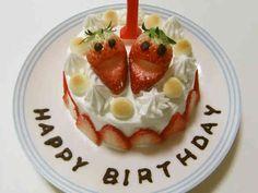 簡単☆1歳の誕生日ケーキ☆離乳食完了期の画像