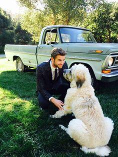 Liam Hemsworth & His dog