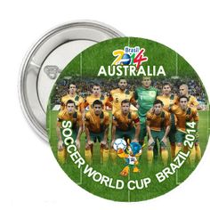 Australia National Football Team FIFA World Cup 2014 Pin Back Button Badge | Balli Gifts