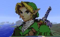 Link (géant) réalisé en mode survival et fini le 15 avril 2012. Pour voir sa construction et d'autres pixel arts en une seule vidéo, cliquez sur ce lien : http://gamezik.fr/minecraft-pixel-art/ (perso j'aime beaucoup la musique). J'attends vos commentaires sur notre site et/ou ici et sur Dailymotion. Partagez si vous aimez.
