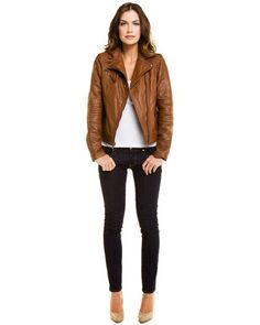 Some of you have to get in on this: Cole Haan Leather Motorcycle Jacket