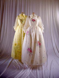 Evening dress. 1973-1974. Adolfo for Saks Fifth Avenue.