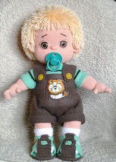 amigurumi doll crochet pattern, baby doll amigurumi, amigurumi toy tutorial - Gift For You Crochet Doll Pattern, Crochet Patterns Amigurumi, Crochet Dolls, Crochet For Boys, Cute Crochet, Crochet Baby, Easter Toys, Boy Doll, Crochet Basics